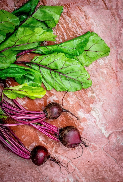 Beets, the main ingredient in Borshch, a dish in Savage Feast