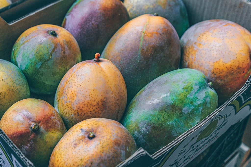 Mangoes in a crate